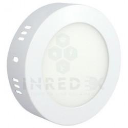 Panel LED Sobreponer Redondo 6W